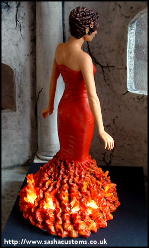 Sasha's Customs - Red-Dress Katniss *Light Up*